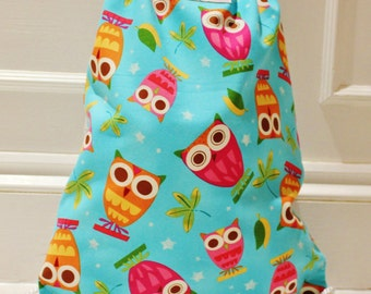 Owl Backpack, Swim Bag, PE Bag, Nursery Bag