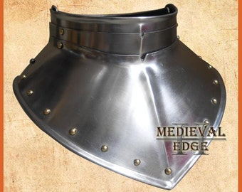 medieval gorget steel Armour larp sca reenactment
