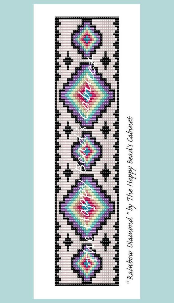 Rainbow Loom Patterns Diamond Bead Loom Pattern Rain...