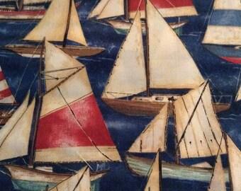 One Fat Quarter of Fabric - Sailng