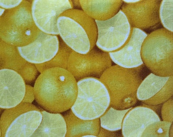 One Fat Quarter of Fabric Material - Lemons