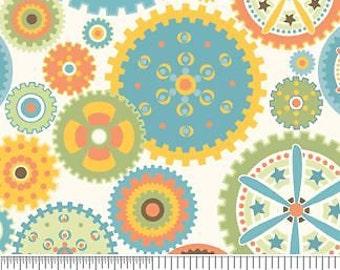Riley Blake - Sheri Berry - Mod-Tod - Cream Cotton Fabric