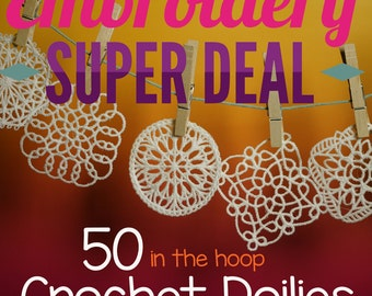 Special Buy 50 In The Hoop Freestanding Crochet Doilies Doily for the Crazy Low Price of 9.99