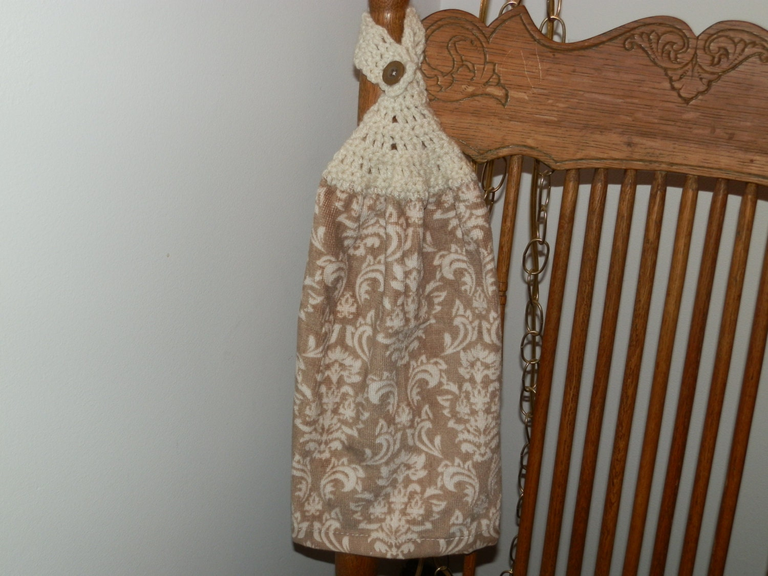 Crochet Kitchen Hand Towel Taupe with a Fleur type by ...