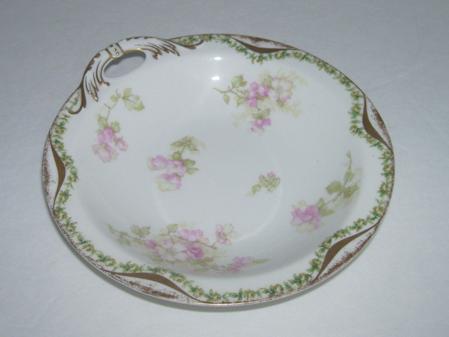 Haviland Limoges Apple Blossom Ice Relish Nappy Bowl