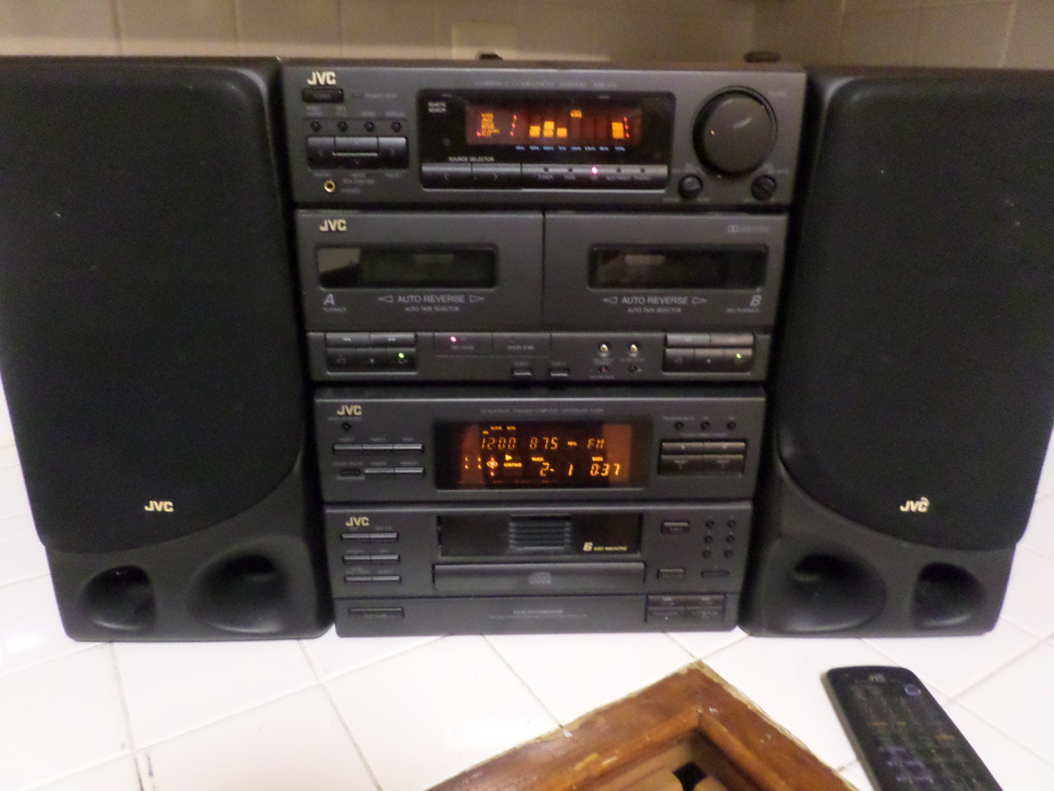 Early 1990s Jvc Home Stereo System on zoom portable cd player