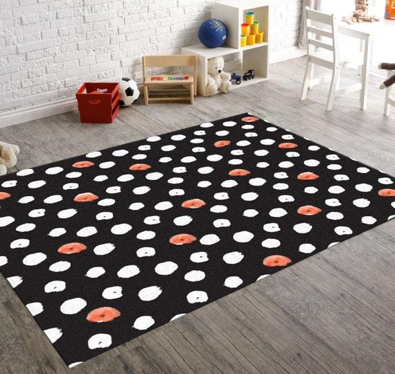 Black Polka Dot Polka Dot Rug Black And White Rug By