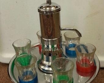 Vintage Mid Century Liquor Shot Glass Dispenser