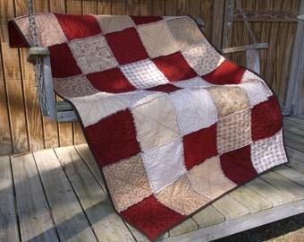 Layer Cake Rag Quilt, Patchwork Garden