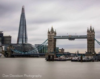 Tower Bridge and The Shard of Glass 18x12 inch print
