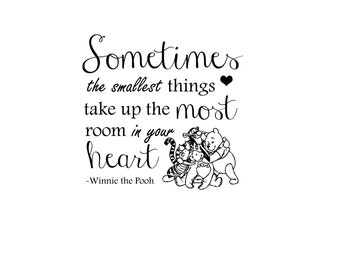 "INSTANT DOWNLOAD Newborn Baby Word Art Overlay and Print Out ""Winnie the Pooh"" Quote"