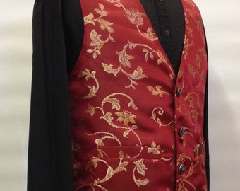 Mens steampunk brocade vest