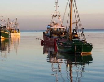 Tranquil evening seascape, fine art photo print : Leigh on Sea - Thames estuary