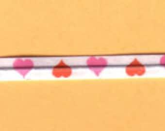 """Hearts Print  Twist Ties - 3.5"""",  100 Pack"""