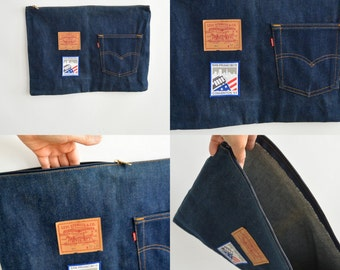 Vintage Rare Levi's Large Zipper Bag  Levi's 501 San Francisco Democractic Convention 1984