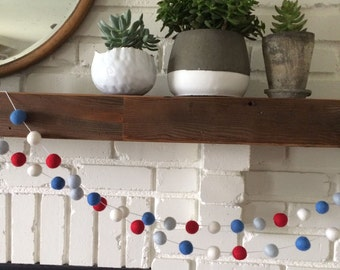 4th of July Felt Ball Garland