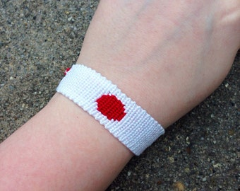 The Japanese Flag Friendship Bracelet
