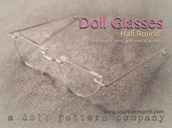 Half Round Doll Glasses