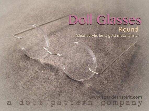 Round Doll Glasses