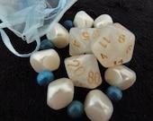 Frozen RPG polyhedral dice set with bracelet and mesh bag D&D Pathfinder