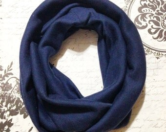 Baby infinity scarf/Toddler infinity scarf/Adult Infinity scarf/Navy blue infinity scarf/newborn scarf/ Infinity scarf for kids/winter scarf