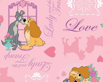 Per Yard, Disney's Lady and the Tramp Adventure Fabric