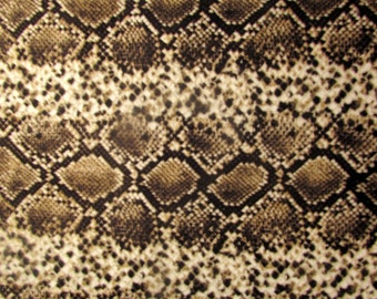 Per Yard, Snake Skin Print Fabric From Quilting Treasures