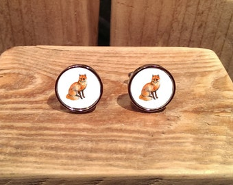 Fox Cufflinks - can be personalised.