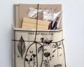 Calligraphy Set with Botanical Tote Bag