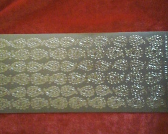 Silver paisley Starform stickers 1141s