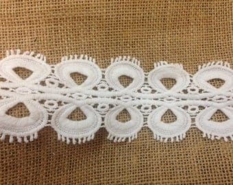 """2.5"""" white cotton lace - DIY supplies/crafts/supplies/notions/lace and trims/bridal lace"""