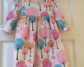 Girls Dress, Girls Long sleeve Dress, Girls Birthday Party Dress, Girls Christening Dress, Girls Party Dress, Girls Clothing,