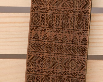 Aztec Pattern Hipster iPhone 6 iPhone 5 5s wooden case walnut bamaboo wood iphone case
