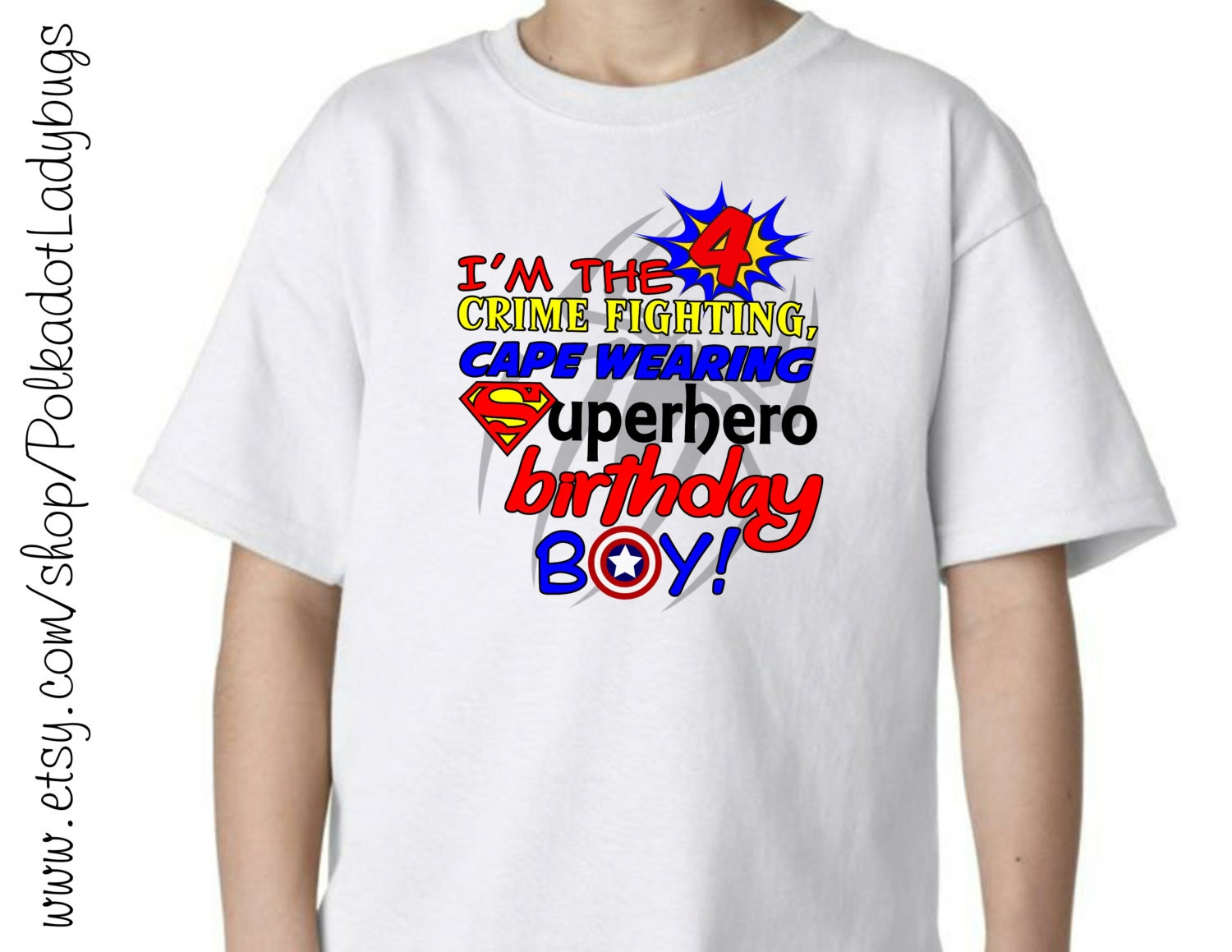 Superhero Birthday Boy Shirt