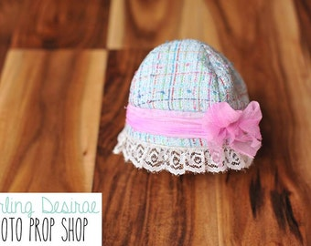 newborn hat, newborn photo prop, newborn photography, newborn girl, handmade, baby girl, baby bonnet, baby girl bonnet