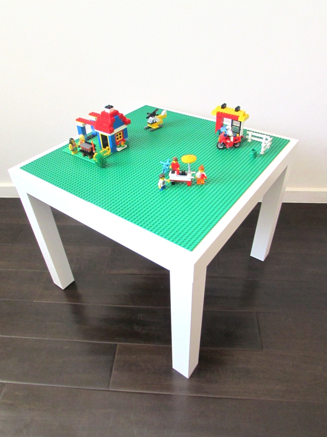 Lego activity table for creative play with by timelesstoybox for Table design lego