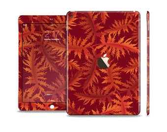 The Vector Fall Red Branches Skin Set for the Apple iPad (All Models Available)