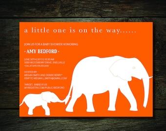Printable - Elephant Baby Invitation