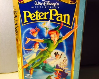Peter pan vhs cover handstitched journal