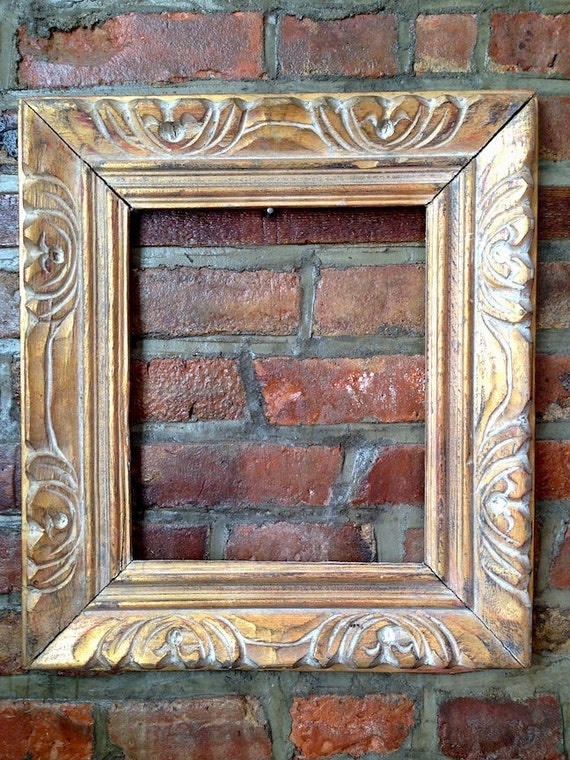 Wood Gilded Picture Frame Made In Mexico