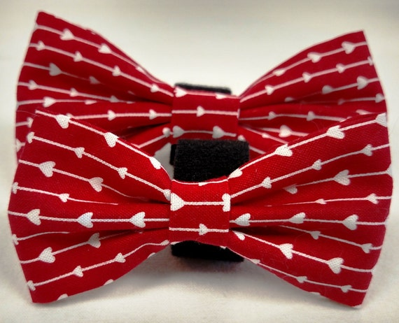 Valentine Dog Bow