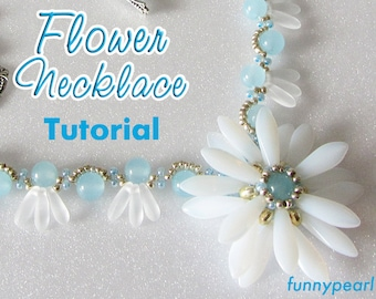 Necklace Flower. Tutorial PDF