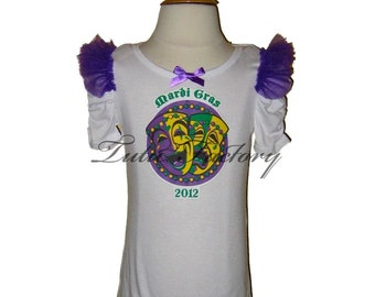 Girls Mardi Gras 2016 Top . 4 to 6x . Choose Graphic . FREE SHIPPING