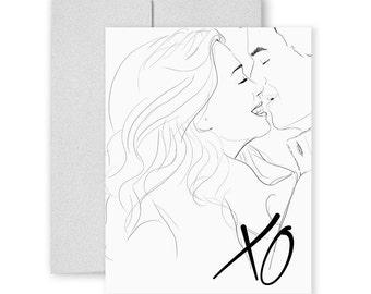 XO  - Love You - Greeting Card, Illustration