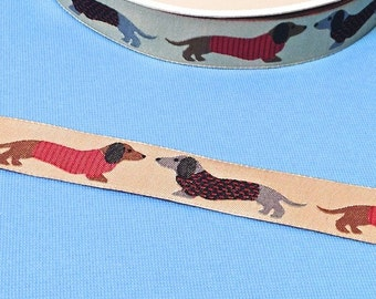 "Woven Ribbon Renaissance ribbons ""Dachshunds"""
