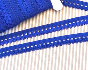 Ruffle rubber 1, 5 cm Royal Blue