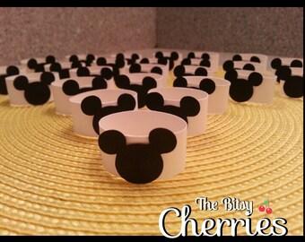 Mickey Mouse Napkin Rings, Mickey Mouse napkin holders (paper napkin rings) Mickey Mouse napkin wraps