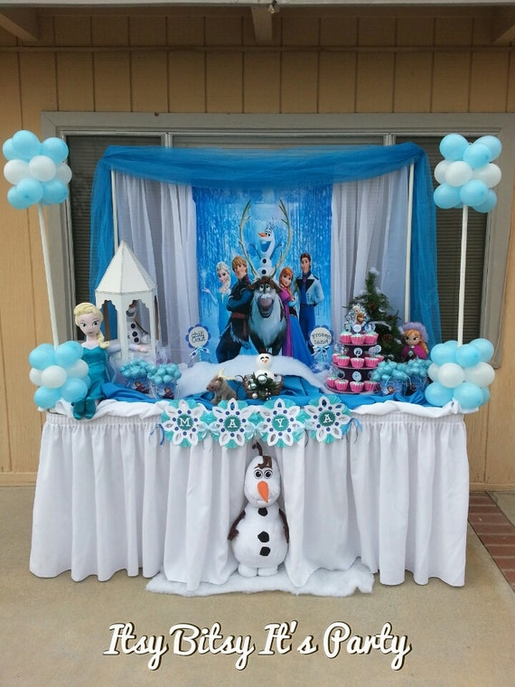 items similar to candy buffet any theme banner available frozen candy buffet frozen party. Black Bedroom Furniture Sets. Home Design Ideas