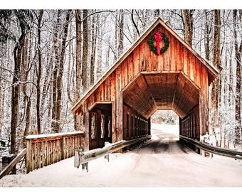 Christmas in the Smoky Mountains Hand Made Greeting Cards from William Britten Photography