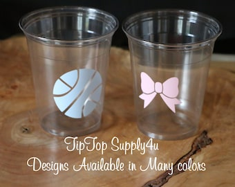 Free Throws Or Pink Bows Gender Reveal Decorations